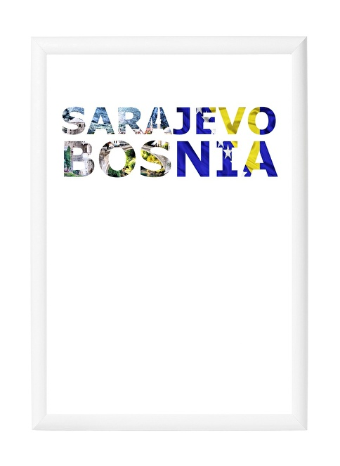 Decarthome Saraybosna Anı Çerçevesi 21x30 cm Beyaz